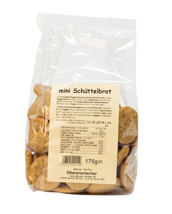 Minischüttelbrot Bäckerei Oberprantacher 175 g