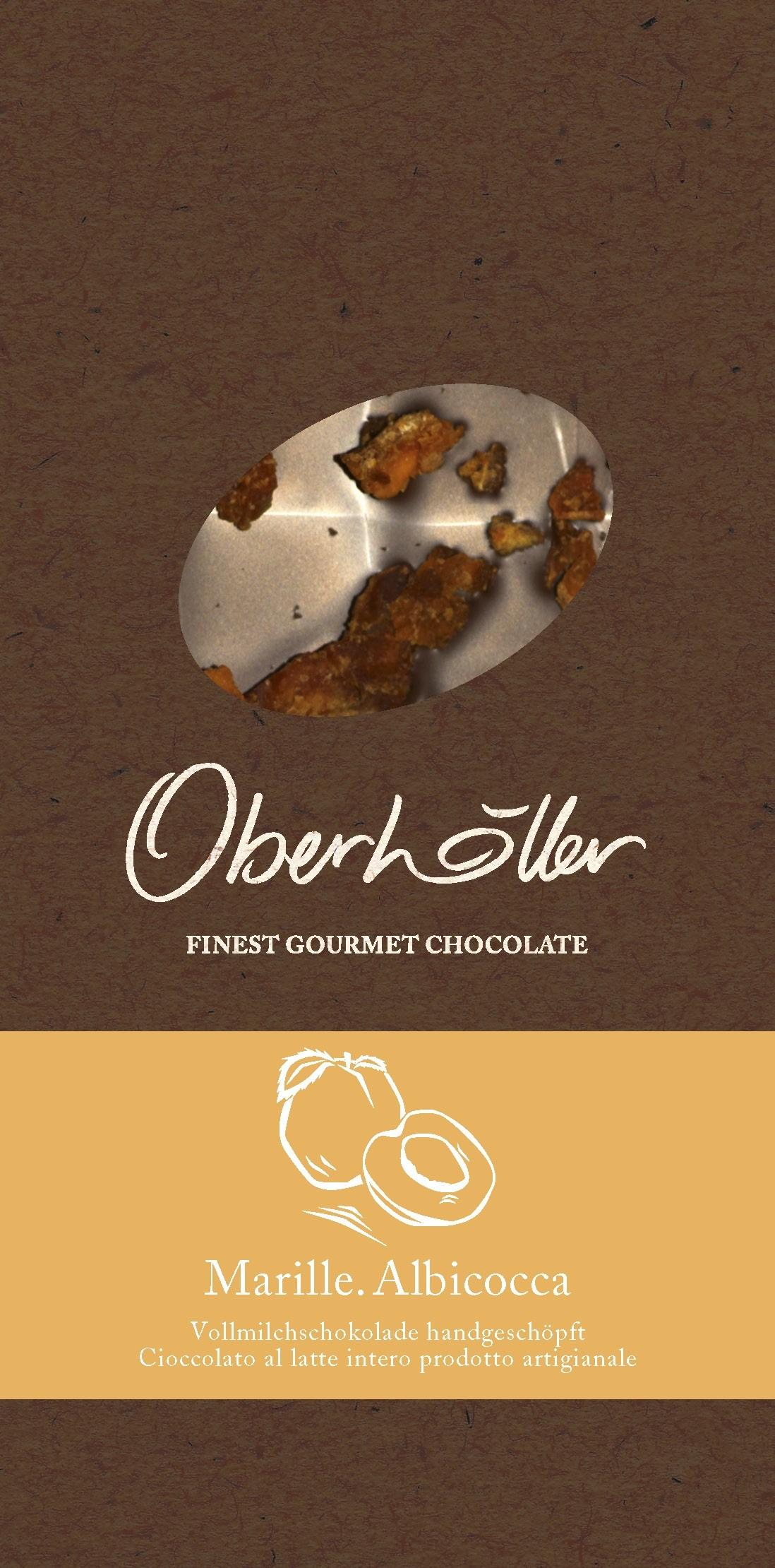 Vollmilchschokolade mit Marille Oberhöller 100 g