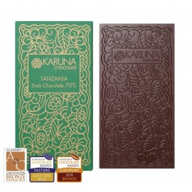 Single Origin Dark Chocolate 70% Tanzania Karuna BIO 60g