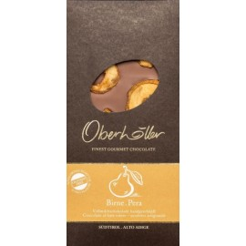 Cioccolato al latte con pera 100g Oberhöller