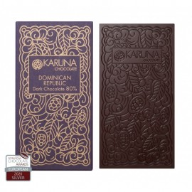 Single Origin Dark Chocolate 80% Dominican Republic Karuna BIO 60g