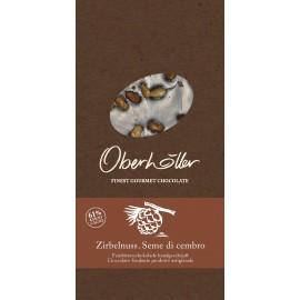 Tavoletta di cioccolato fondente e semi di cirmolo 100 g Oberhöller
