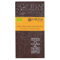 Single Origin Dark Chocolate 81% Brazil Karuna ORGANIC 60g