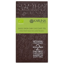 Single Origin Dark Chocolate 70% Tanzania Karuna ORGANIC 60g
