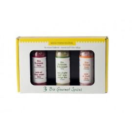 Gift set with 3 herb salts Kräuterschlössl ORGANIC 3 x 40 g