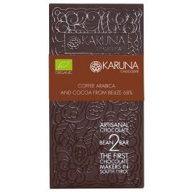 Dark Chocolate with Coffee 68% Belize Karuna ORGANIC 60g