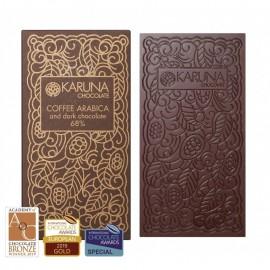 Dark Chocolate 68% Belize with Coffee Karuna ORGANIC 60g