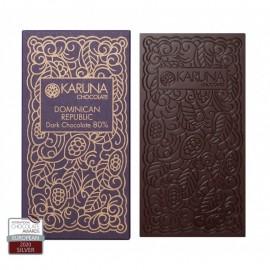 Single Origin Dark Chocolate 80% Dominican Republic Karuna ORGANIC 60g