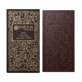 Single Origin Dark Chocolate 100% Peru Karuna ORGANIC 60g